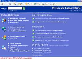 Windows Xp Using The Help And Support Center