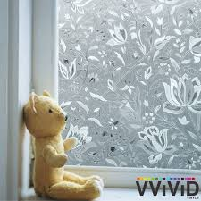 wildflower static cling stained glass vinyl window 3ft x 15ft diy tm148 001 for