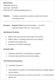 Student Resumes Template For College Students Sample Resume Templates Student