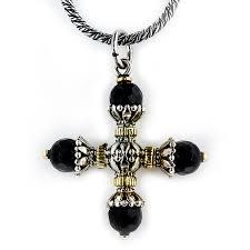konstantino black onyx cross