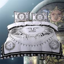 details about new sun bedding set moon black and white duvet cover twin full
