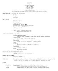 College Admission Resume Sample Sample Resume For College Admission ...