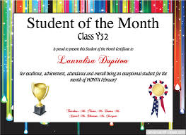 Student Of The Month Certificate Templates Create Amazing Certificates With A Certificate Template From