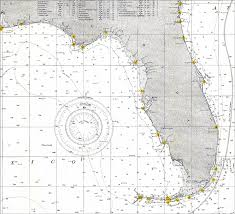 Florida Depth Chart Florida And The Gulf Of Mexico 1905