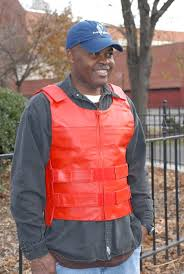 bullet proof style red zippered motorcycle vest view larger image