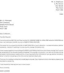 Cover Letter Example Relocation Job Transfer Request Letter Example Relocation Icover Org Uk