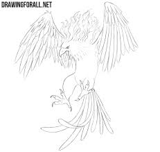Drawings Of Phoenix How To Draw A Phoenix Drawingforall Net