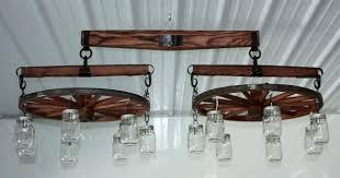 single tree wagon wheel chandelier