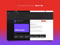 Youtube Template Psd Youtube Channel Mockup Template Free Psd Template Psd Repo