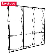 metal iron 230x230cm 3x3 pop up banner display stands foldable spray painting black trade