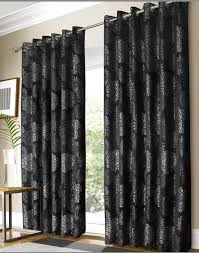 Black Patterned Curtains Awesome Design Inspiration