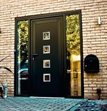 black front door with sidelightsFront Doors  Black Wood And Glass Front Doors Black Fiberglass