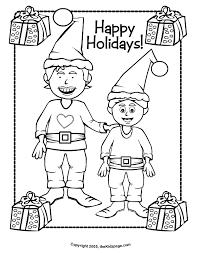 Small Picture Happy Holidays Coloring Pages Printable Coloring Home