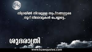 Malayalam Quotes Good Night Night Sky With Stars And Full Moon
