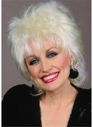 dolly parton hairstyle messy cut straight synthetic hair women wig