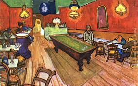 the night cafe in the place lamartine in arles painting vincent van gogh the night