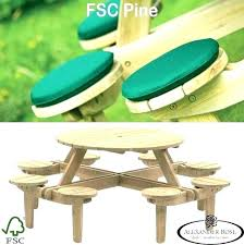 round wood picnic table round wood picnic table wood picnic tables for epic chair trend