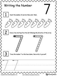learn to count and write number kindergarten count and number learn to count and write number 7
