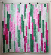 Quick Charity Quilts series--Jelly Roll 1600 or Lasagna quilt ... & Using up a stack of green and pink gradations Adamdwight.com