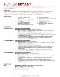 Human Resources Resume Template Creative Hr Summary Statement 1850