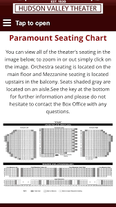 Paramount Theatre Seating Charts