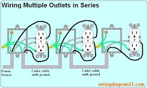 how to wire an electrical outlet wiring diagram house electrical Receptacle Diagram how to wire multiple outlet in serie electrical wiring diagram receptacle diagram symbols