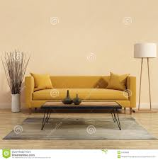 Yellow Living Room Furniture Modern Modern Interior With A Yellow Sofa In The Living Room With
