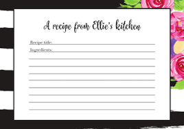 Recipe Cards - Printswell