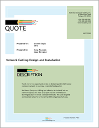 sample network proposal network cabling sample proposal 5 steps