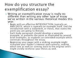 the exemplification essay ppt video online  how do you structure the exemplification essay