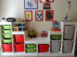 Kids Toy Storage Furniture Appealing Wooden Veneered Storage Shelves For Toys With