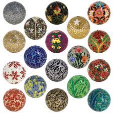 Paper Mache Decorating Set Of 18 Paper Mache Ball Party Ornaments Handmade Decoration