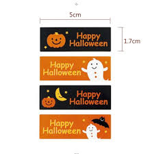 Halloween Gift Cards Us 1 48 25 Off 10 Page Lot 40pcs Halloween Ghost Stickers Square Adhesive Seal Sticker Candy Box Gift Card Decoration Holiday Party Supplies In