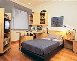 bedroom with tv and computer. Bedroom:Terrific Boys Bedroom With White Wall And Computer Desk Also Bed Table Lamp Tv