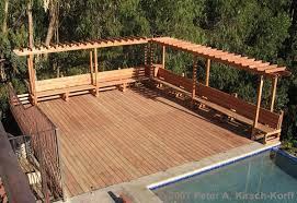 wood patio with pool. Inspirations Wooden Patio Benches And Craftsman Wood Pool Deck With Arbor Bench A Malibu Builder