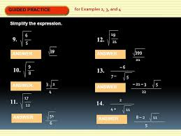 guided practice guided practice for examples 2 3 and 4 simplify the