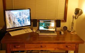 laptop desk setup photo