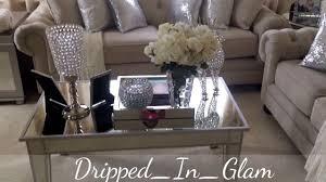 Living Room Furniture On Glam Living Room Tour Youtube