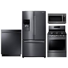 samsung black stainless steel. SUG-KIT Samsung Gas Kitchen Appliance Package With Range - Black Stainless Steel R