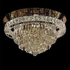 Deckenleuchte Led 60 Cm Kalt Warm Dimmbar Gold Deckenlampe Kristall Kronleuchter