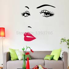 diy beautiful face eyes and lips wall art sticker 8469 painting room home decoration finished size on beautiful wall art pictures with diy beautiful face eyes and lips wall art sticker 8469 painting room