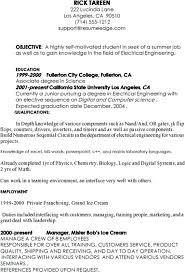 Internship Resume Sample Sample Resume For Internship Effective ...