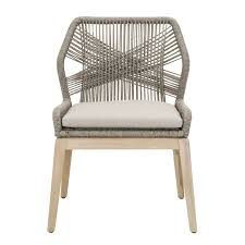 outdoor dining chairs  wicker loom outdoor dining