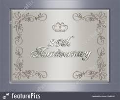 25th wedding anniversary invitation royalty free stock ilration