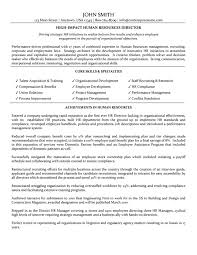 Resume Human Resources Director Resume For Study