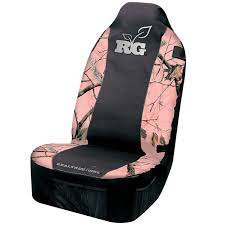 realtree girl pink camo seat cover