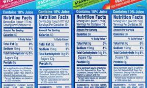 capri sun roarin waters nutrition label dandk capri sun roarin waters nutrition label