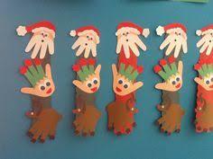 Kerstkaart Kerstboom Van Handafdruk  Kinderen  Pinterest Christmas Crafts Toddlers