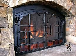 small fireplace doors forged fireplace doors with forged off set and copper panel pleasant hearth fenwick