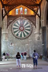 stock photo england hampshire winchester the great hall the arthurian round table